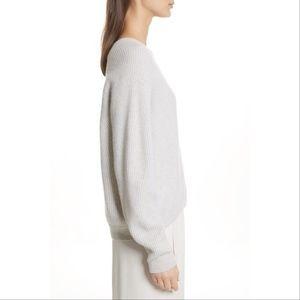 Vince Diagonal Rib Wool & Cashmere Sweater Cream M